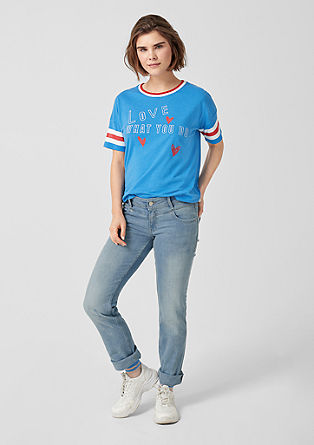 Catie straight: jeans met zadelpas aan de band