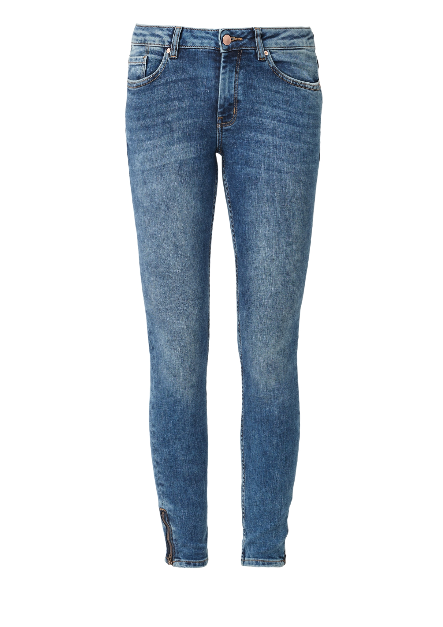 7/8-Jeans | Bekleidung > Jeans > 7/8-Jeans | Blau | 85% baumwolle -  14% polyester -  1% elasthan | Q/S designed by