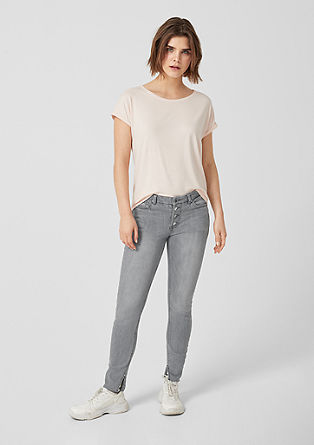 Reena Slim: high-rise ankle jeans from s.Oliver