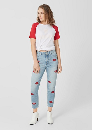 Mum Fit Relaxed: Jeans mit Stitchings