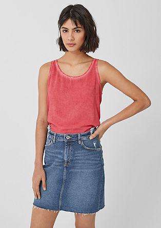 Jeans krilo obrabljenega videza