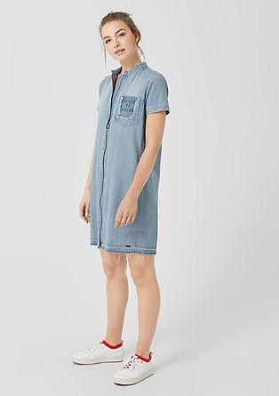 Denim jurk met een ritssluiting