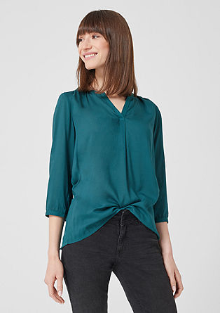 Tunic blouse in a mix of materials from s.Oliver