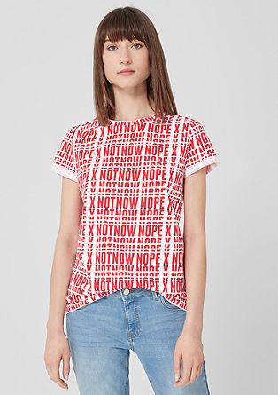Jersey shirt met een print all-over