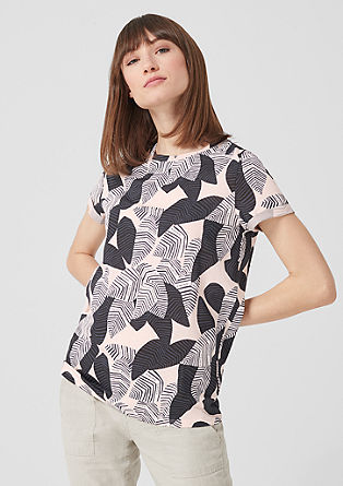 Jersey T-shirt with an all-over print from s.Oliver