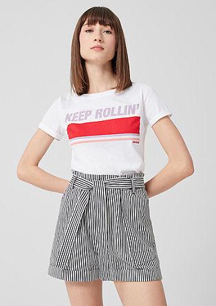 Jersey shirt met artwork in vintage look