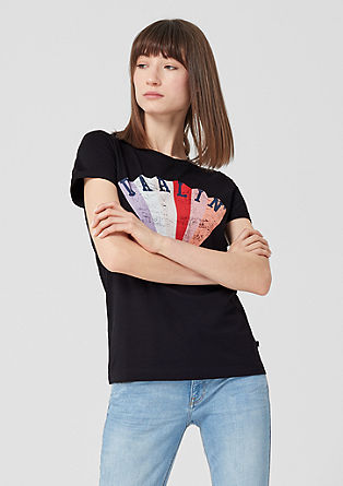 Jersey tee with vintage artwork from s.Oliver