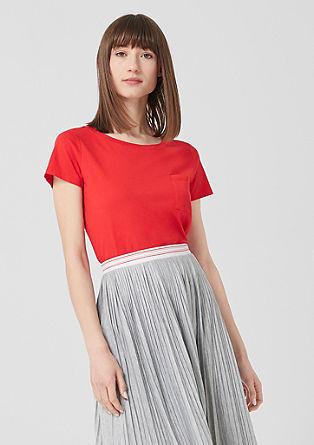 Basic-Shirt mit Brusttasche