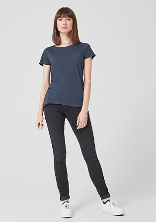 237a5cb747a604 Unifarbene T-Shirts für Damen im s.Oliver Online Shop kaufen