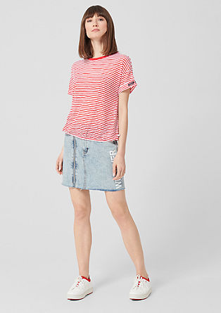 Striped top with a sheer effect from s.Oliver