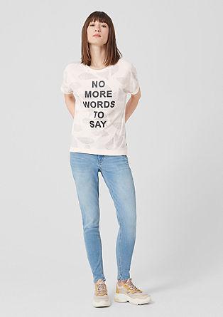 Statement-Shirt mit Glitzer