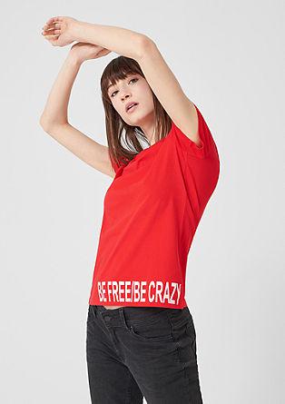 Jerseyshirt mit Statement-Print