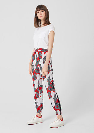 Jogpants mit Allover-Print
