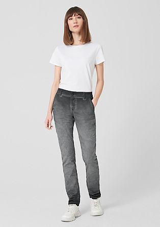 Megan Relaxed: kalhoty spřechodem barev