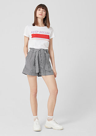 Striped paperbag shorts from s.Oliver