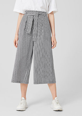Culottes with stripes from s.Oliver