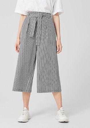 pruhovaná kalhotová sukně