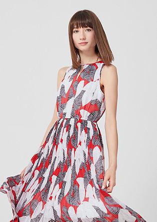 Midi šaty s plisovanými sklady