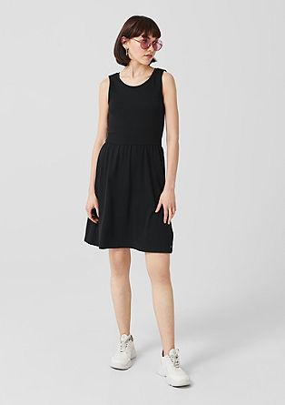 Jersey jurk met cut-out