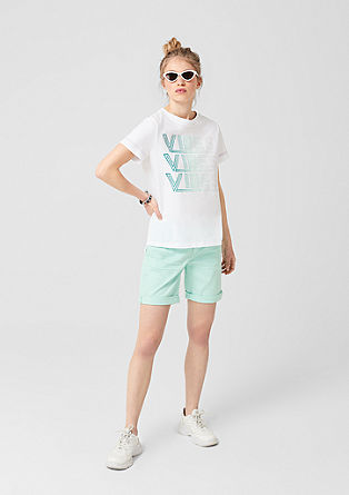 Sporty T-shirt with glitter lettering from s.Oliver