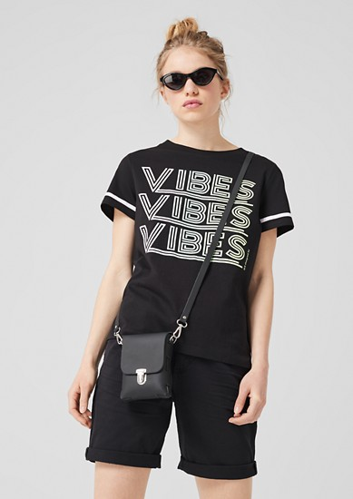 Sportief shirt met glinsterende tekst