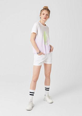 Tričko s barvením Dip Dye aneonovým potiskem