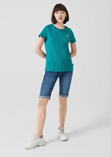 Jersey shirt met print op de achterkant