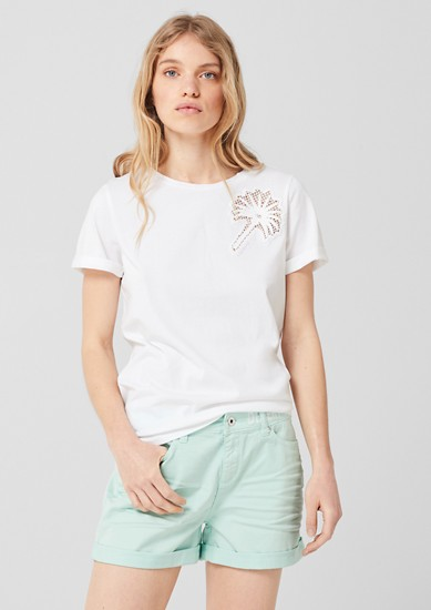 T-Shirt mit Embroidery Insert