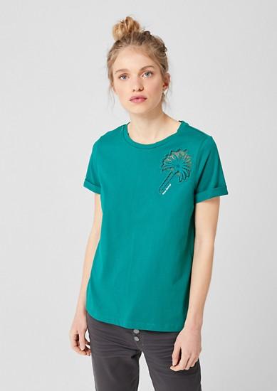 Tričko svyšívanou vsadkou