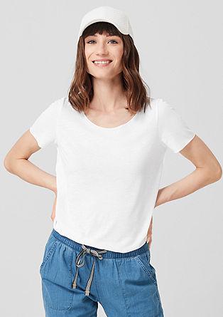 Luchtig T-shirt met linnen