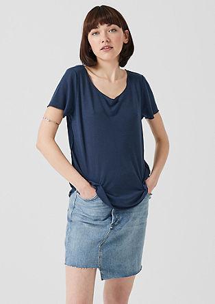 Leichtes T-Shirt mit Leinen