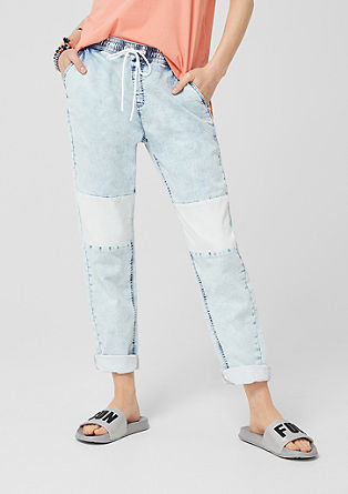 Gwen Tapered: Denim-look tracksuit bottoms from s.Oliver