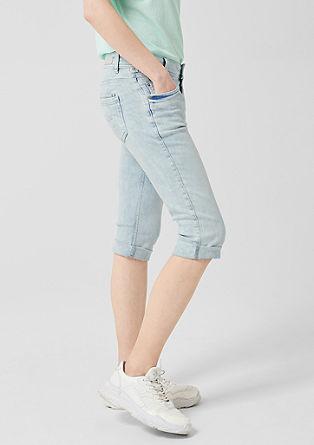 Catie Slim: pantacourt en jean clair de s.Oliver