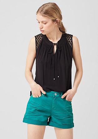 Abby Regular: kratke hlače z nizkim pasom