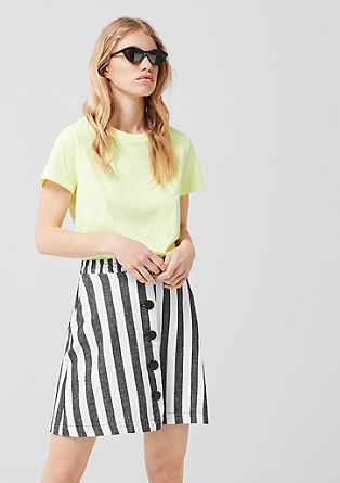 Striped blended linen skirt from s.Oliver