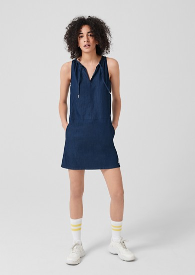 Denim dress with a cut-out detail from s.Oliver