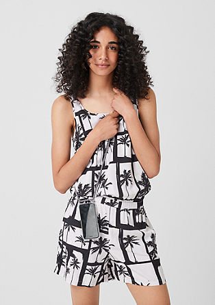 Playsuit with tropical print from s.Oliver