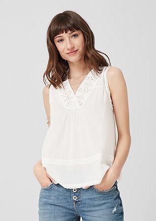 Boemska bluza brez rokavov za zavezovanje