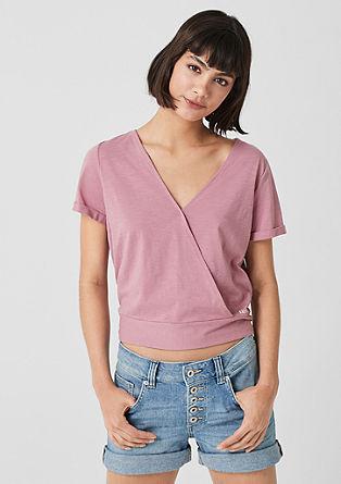 T-Shirt mit Wickeleffekt