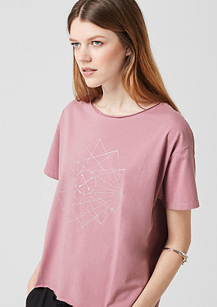 Oversized T-shirt met glitterprint