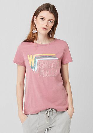 Jersey shirt met knoopjes als detail