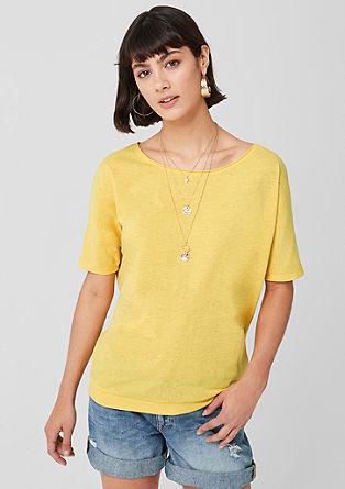 Shirt aus Flammgarnjersey