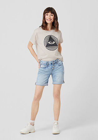 Abby: Denim shorts with distressed effects from s.Oliver