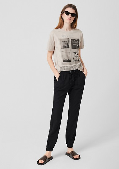 Gwen Boyfriend: Linen trousers from s.Oliver