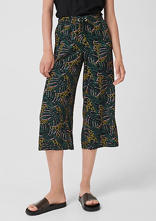 Lightweight viscose culottes from s.Oliver
