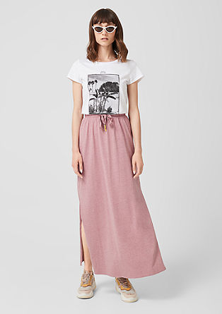 Maxi skirt with side slits from s.Oliver