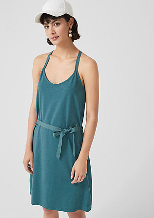 Off-the-shoulder jersey dress from s.Oliver