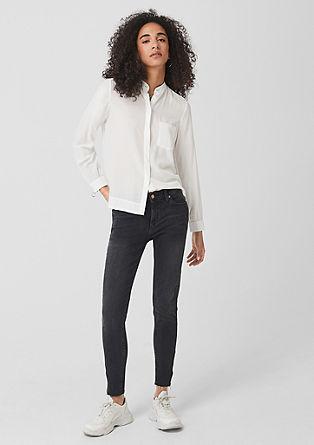 Bluse mit Zip-Manschetten