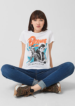 Jerseyshirt mit Bowie-Print