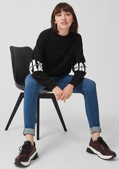 Sweatshirt mit Print-Details